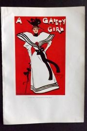 The Studio 1931 Art Deco Print. A Gaiety Girl - Theatrical Poster by Dudley Hardy